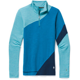 Smartwool Merino 250 Colorblock Maglia Baselayer Con Zip 1/4 Donna, ocean abyss heather